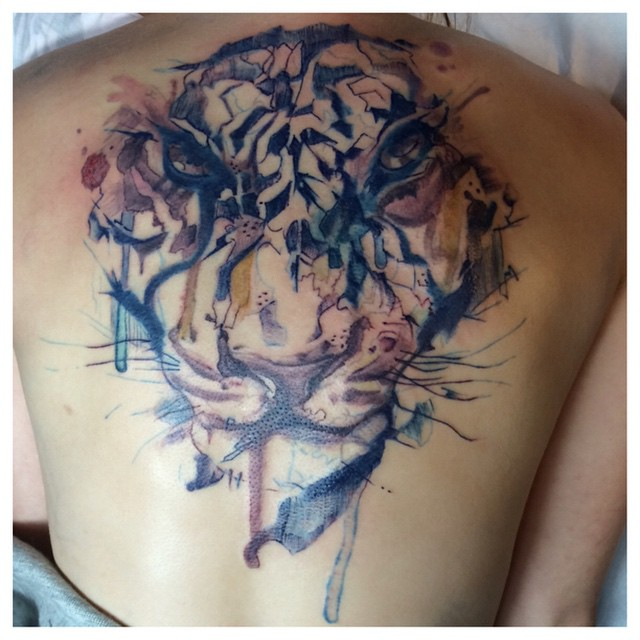 Tatouage watercolor montreal for Montreal tattoo artists